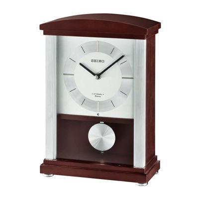 Seiko® Contemporary Classics Mantel Clock Brown Qxw440blh