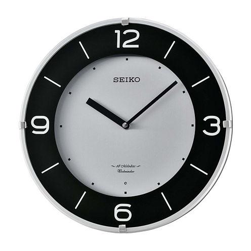 Seiko® Musical Wall Clock Silver Tone Qxm358slh