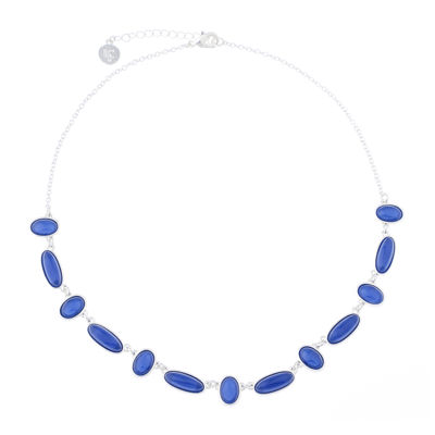 Liz Claiborne® 2022 Collar Blue & Silver-Tone Necklace