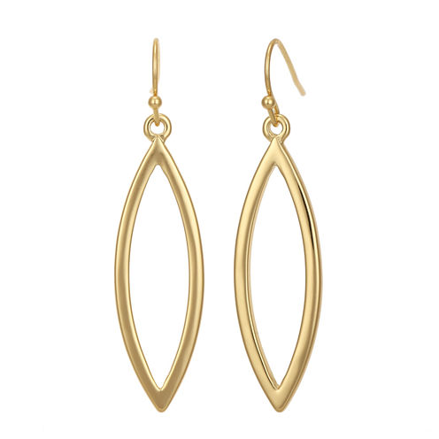 Liz Claiborne® Gold-Tone Open Dangle Earrings