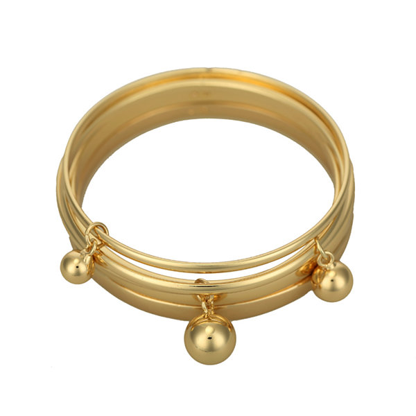 Liz Claiborne® Set of 5 Gold-Tone Bangle Bracelets