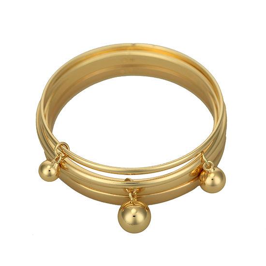 Liz Claiborne® Set of 5 Gold-Tone Bangle Bracelets