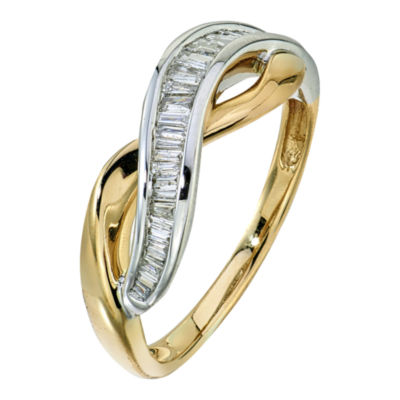 1/4 CT. T.W. Diamond 10K White and Yellow Gold Ring