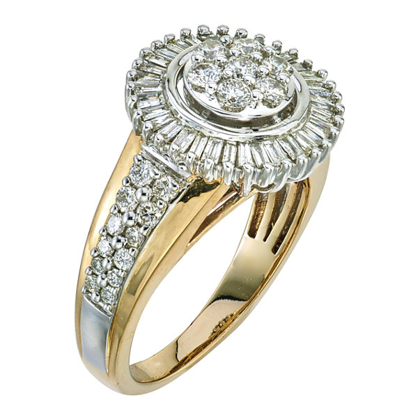 diamond blossom Diamond 1 CT. T.W. 10K Two-Tone Gold Ring