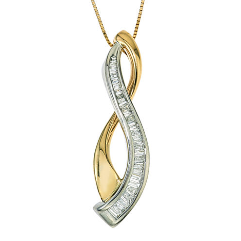 1/4 CT. T.W. Diamond 10K White And Yellow Gold Pendant Necklace