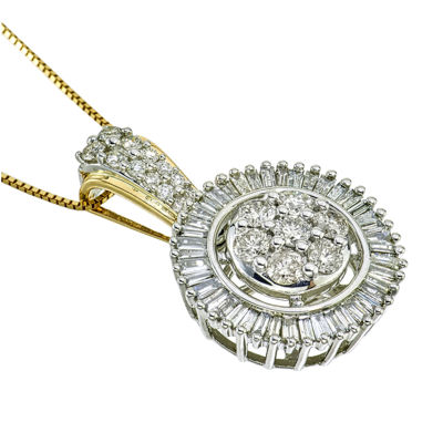 diamond blossom 1 CT. T.W. Diamond 10K Yellow Gold Pendant Necklace