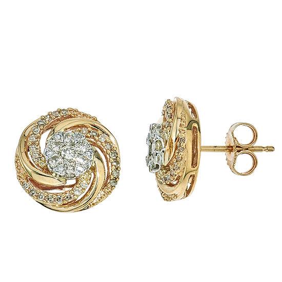 1 2 Ct Tw Diamond Earring In 10k Yellow Gold