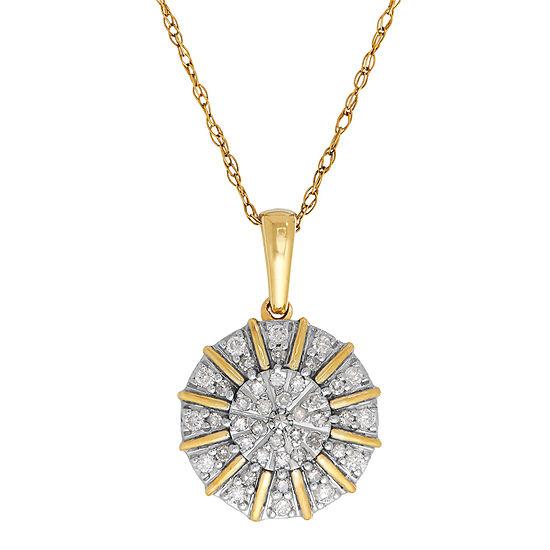 1 4 Ct Tw Diamond 10k Yellow Gold Pendant