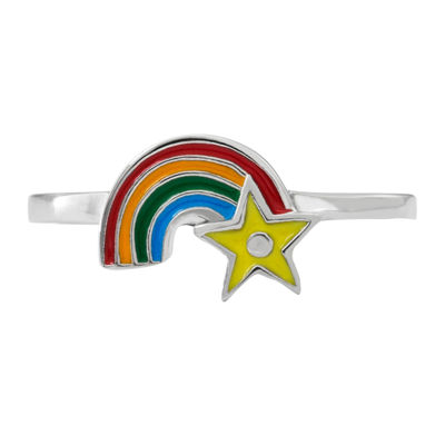 Hallmark Kids Sterling Silver Enamel Rainbow Ring