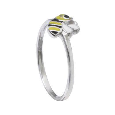 Hallmark Kids Sterling Silver Enamel Bee Ring