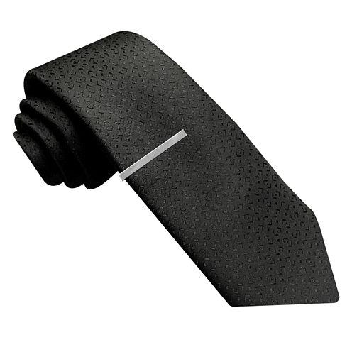 JF J. Ferrar® Abstract Geo Tie with Tie Bar - Slim
