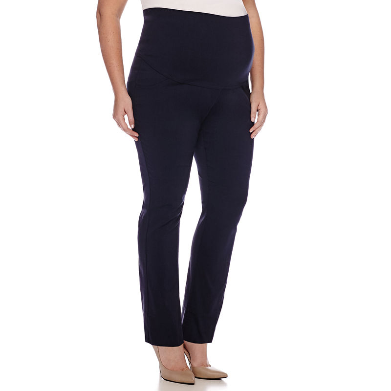 Maternity Millennium Overbelly Straight-Leg Pants - Plus plus size,  plus size fashion plus size appare