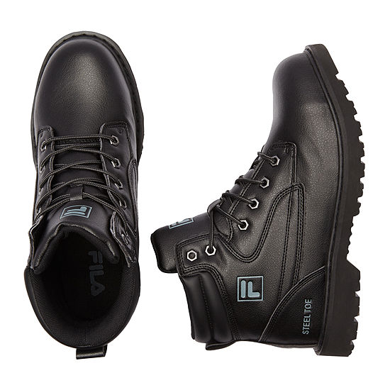 Fila Mens Landing Steel Toe Work Boots Flat Heel