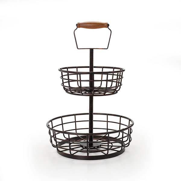 Gourmet Basics by Mikasa® Wire 2-Tier Basket