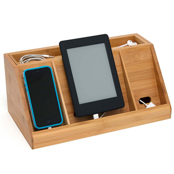Lipper International Bamboo Deluxe Charging Station