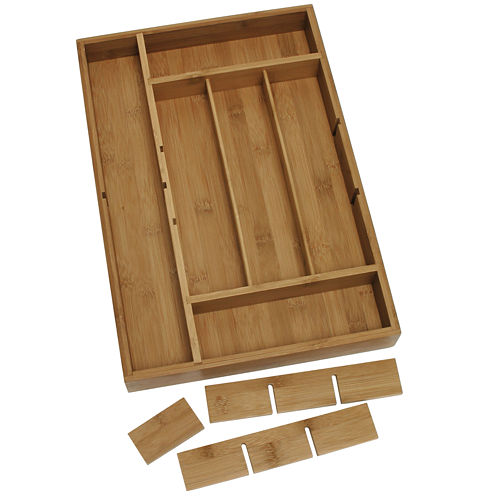 Lipper International Bamboo Organizer with Removable Dividers