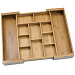 Lipper International Bamboo Expandable Organizer with Removable Dividers