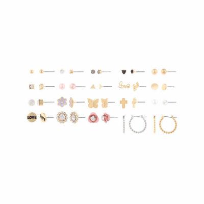 Decree 1 Pair Clear Earring Set