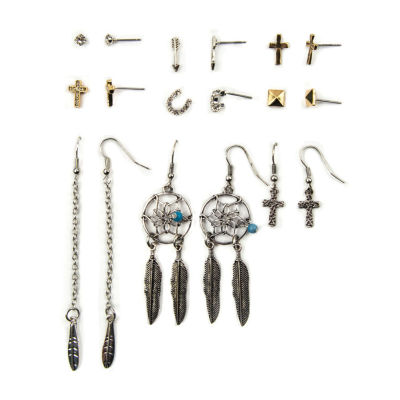 Arizona 9 Pair Clear Earring Sets