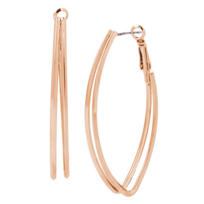 Bold Elements 2 1/4 Inch Hoop Earrings