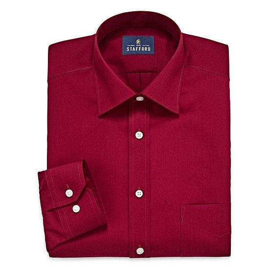 Stafford Travel Easy Care Broadcloth Big Tall Long Sleeve Dress Shirt