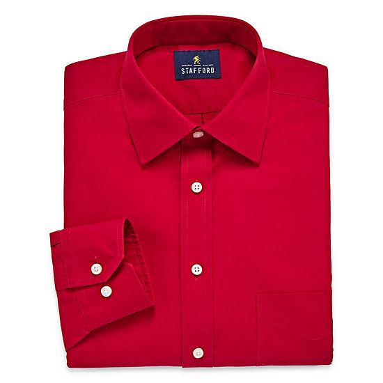 Stafford Executive Non-Iron Cotton Pinpoint Oxford- Big & Tall Long Sleeve Dress Shirt