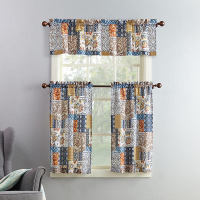 Antoinette 3-pc. Rod-Pocket Kitchen Curtain Set