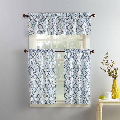 Barker 3-pc. Rod-Pocket Kitchen Curtain Set