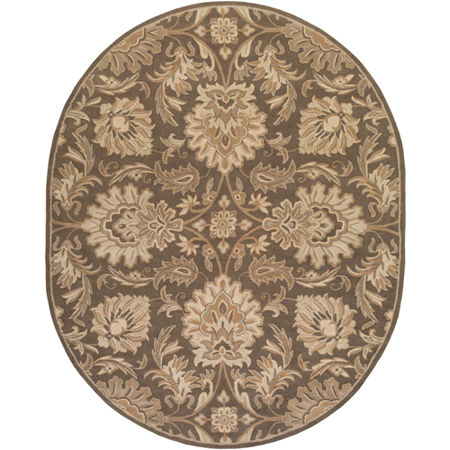 Decor 140 Vitrolles Hand Tufted Oval Indoor Rugs, One Size , Brown