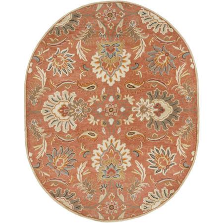 Decor 140 Vitrolles Hand Tufted Oval Indoor Rugs, One Size , Orange