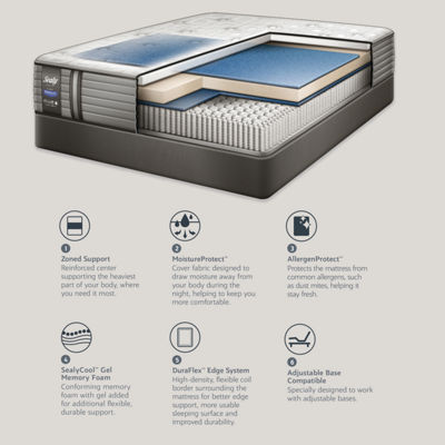 Sealy® Pershing Cushion Firm - Mattress Only