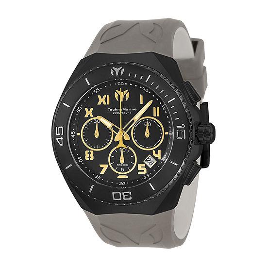 Techno Marine Mens Gray Strap Watch Tm-215073