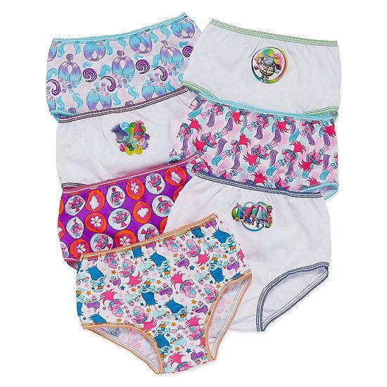 Little Girls 7 Pack Trolls Brief Panty