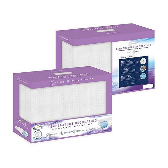 SensorPEDIC® Coolest Comfort Temperature Regulating Gel Infused Contour Memory Foam Pillow