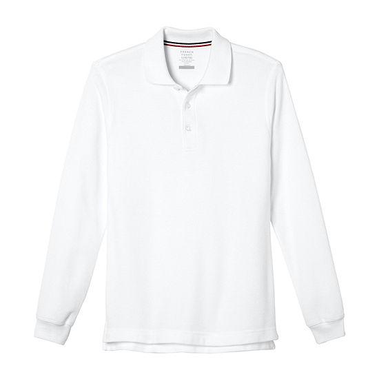 French Toast Toddler Boys Long Sleeve Polo Shirt