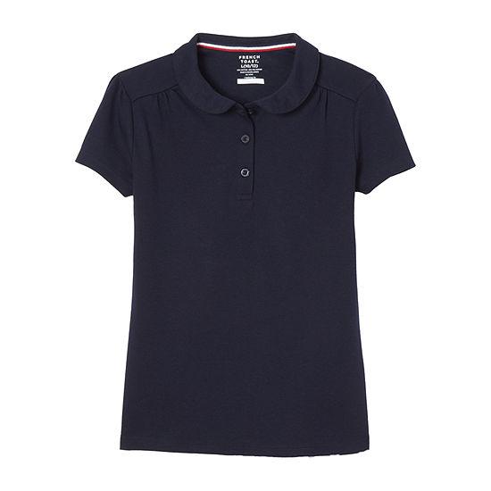 French Toast Little & Big Girls Short Sleeve Polo Shirt