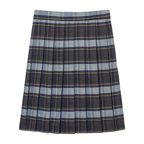 French Toast Girls Adjustable Waist Pleated Skirt