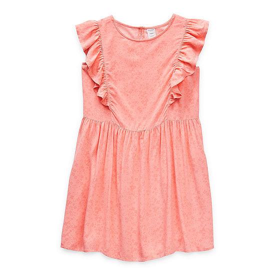 Arizona Little & Big Girls Short Sleeve Floral A-Line Dress