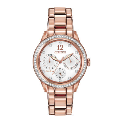 Citizen® Eco-Drive® Womens Rose-Tone Multifunction Watch FD2013-50A