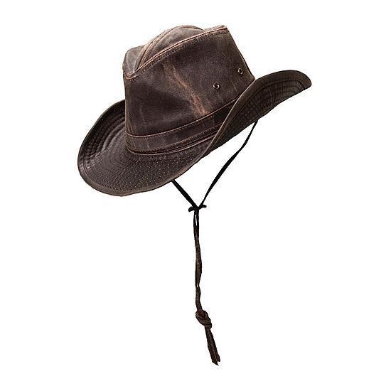 Dorfman Outdoor Design Weathered Cotton Outback Brim Hat 2 3dd245c3e4e