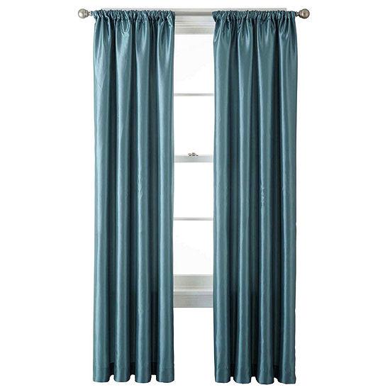 Liz Claiborne Energy Saving Light-Filtering Rod-Pocket Single Curtain Panel