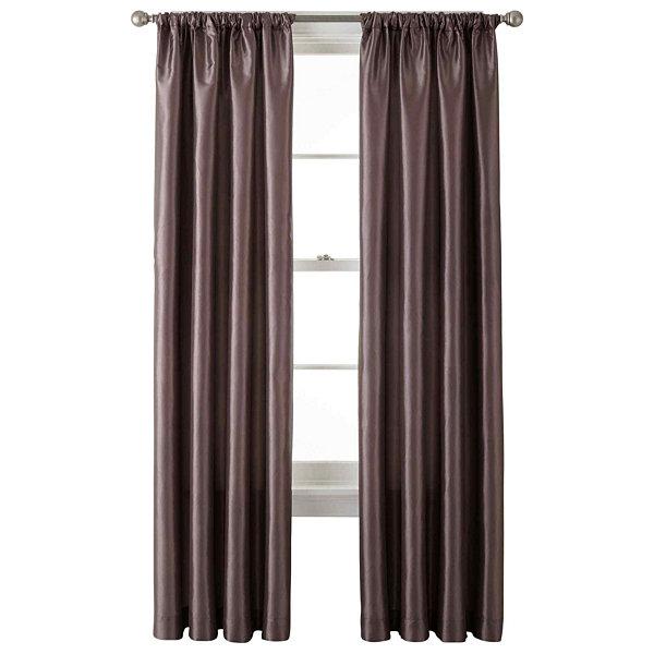 Liz Claiborne Gallery Taffeta Rod Pocket Curtain Panel