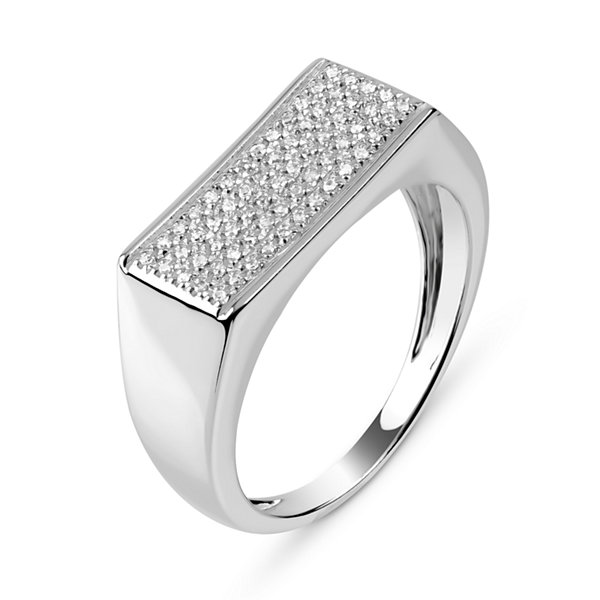 Mens 1/6 CT. T.W. Diamond Sterling Silver Ring