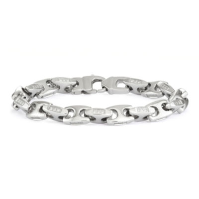 "Mens Stainless Steel  8.5"", 10mm Mariner Chain Bracelet"