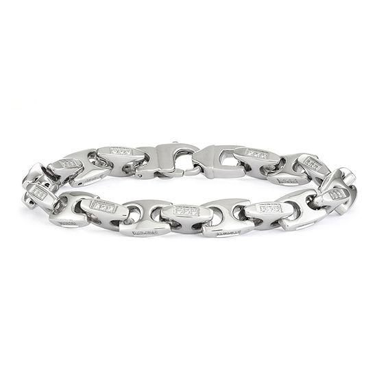 """Mens Stainless Steel  8.5"""", 10mm Mariner Chain Bracelet"""