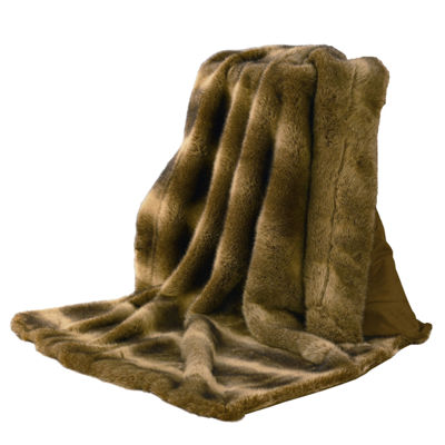 HiEnd Accent Wolf Faux Fur Throw