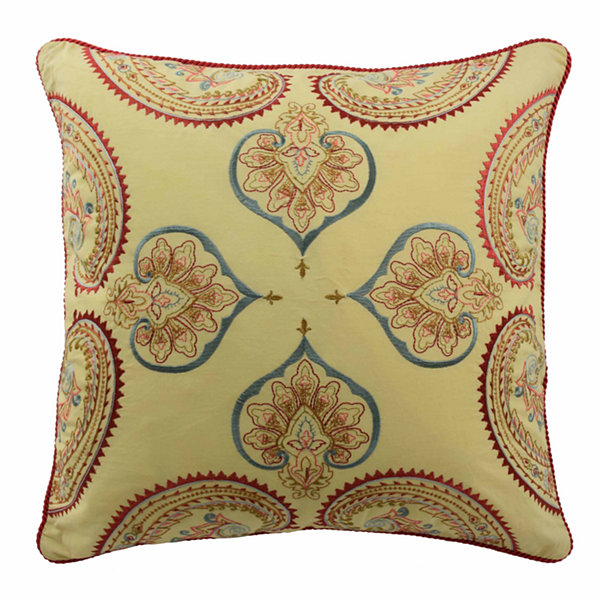 "Waverly Swept Away 18"" Square Decorative Pillow"