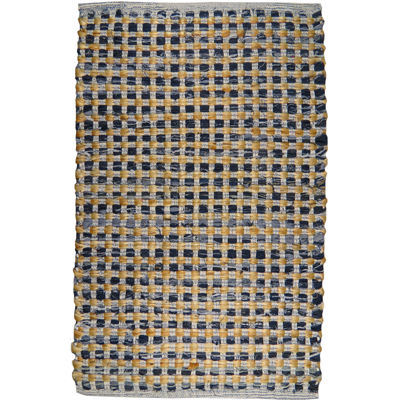 Park B Smith™ Cotton and Jute Checkered Rectangular Rug