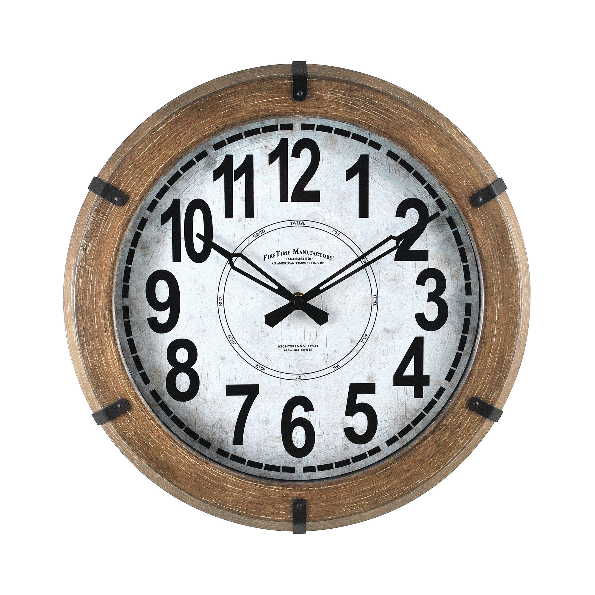 firstime modern rustic wall clock