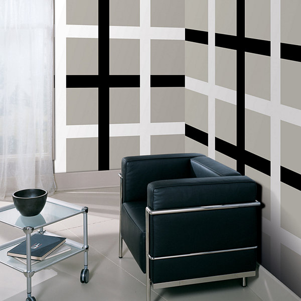 WallPops Black Jack Stripe Decal- Set of 2